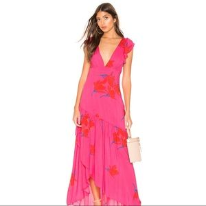 FREE PEOPLE | She's A Waterfall hi low maxi pink 4